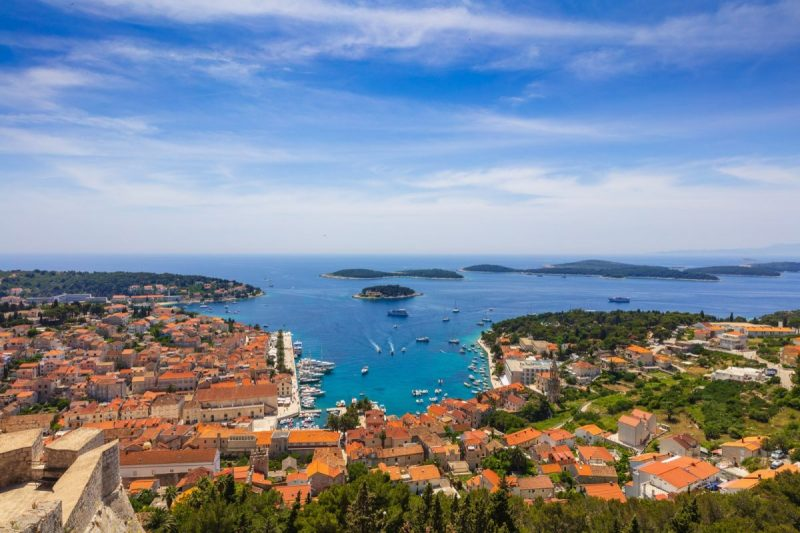Beautiful view on Hvar and nearby islands