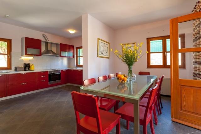 Kitchen and dining room at Villa Liza