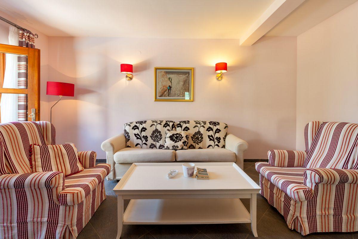 Living room at the ground floor in Villa Dane